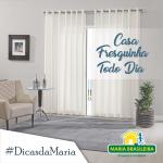 Casa fresca com cortinas limpas!