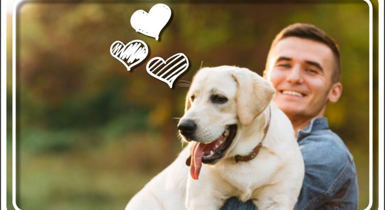 Pet sitter com um cachorro