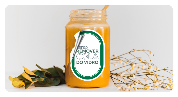 como remover cola do vidro