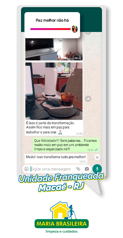 depoimento de cliente maria brasileira satisfeito em macaé rio de janeiro