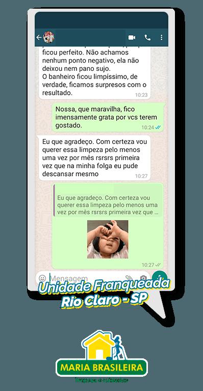 depoimento de cliente satisfeito maria brasileira em rio claro